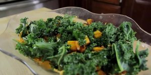 Kale With Cheddar & Roasted Squash