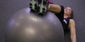 Lower Rectus Abdominis Exercises Using a Ball