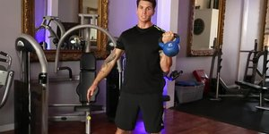 How to Do a Bicep Curl With a Kettlebell