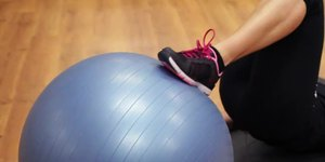 Leg Curls on a Stability Ball