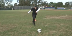 How to Shoot a Low Power Shot in Soccer