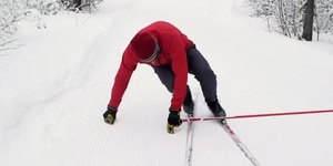 Getting Up When Falling in Cross-Country Skii…