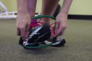 How to Put a Resistance Band on the Foot
