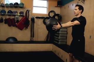 Stability Exercise for a Single Leg Squat With a Medicine Ball