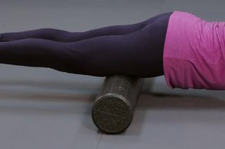 Knee Stretches With Foam Rollers