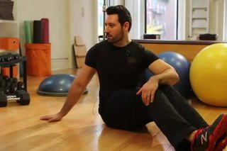 Seated Bent Leg Oblique Stretch