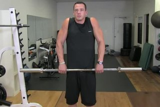 Straight Bar Shoulder Shrug