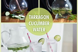 Tarragon Cucumber Spa Water