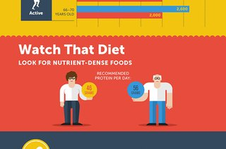 Eating and Exercise Tips for Your 60s (Infographic)