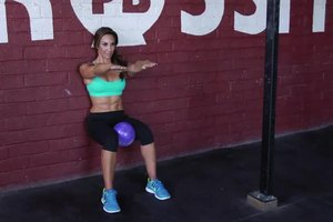 Wall Squats With a Ball Between the Knees