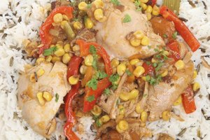 Cooking Frozen Chicken With Rice in a Cooker