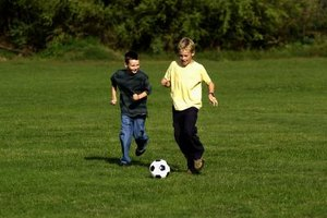 How Kids Should Kick a Soccer Ball