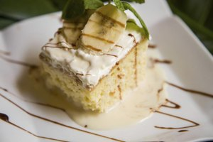 Nutrition Facts for Tres Leches Cake