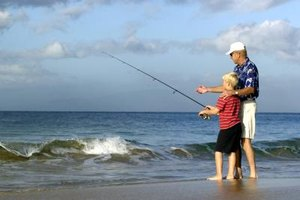 Surf Fishing in Gulf Shores, Alabama