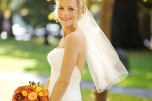 How to add sparkle to a wedding dress livestrong com for Wedding dress to hide pregnancy