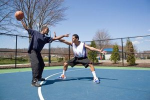 Basketball Rules for Face Guarding an Opponent