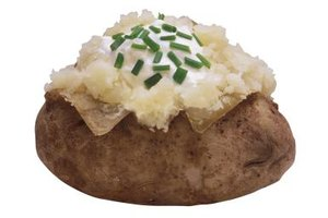Nutritional Value for Baked Potato Skins Vs. Flesh