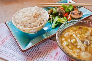 Healthy Chinese Food Menu