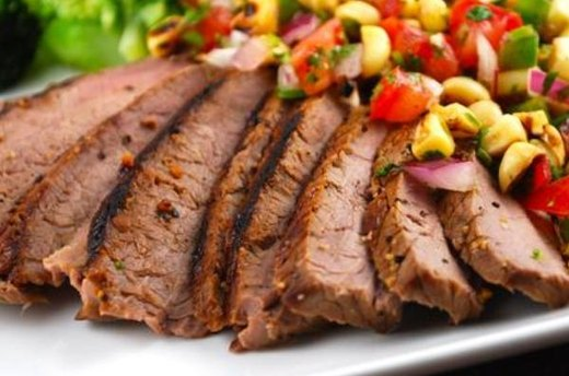 Charred Corn Salsa with Grilled Steak