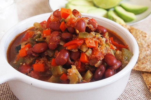 6. Vegetarian Quinoa Chili