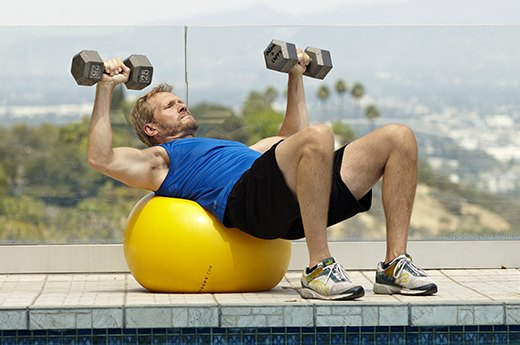 6. Stability-Ball Bench Press