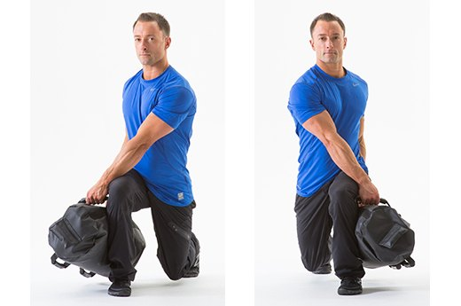 3. Rotational Lunge