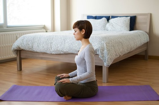 1. Lotus Pose With Deep Breathing (Padmasana)