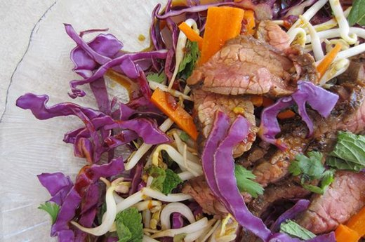 21. Marinated Thai Steak Salad