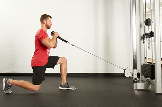 2. Cable Forward Lunge