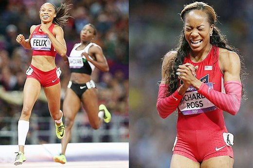 #11. Golds at Long Last for Allyson Felix and Sanya Richards-Ross