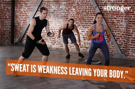 "5. ""Sweat Is Weakness Leaving Your Body."""