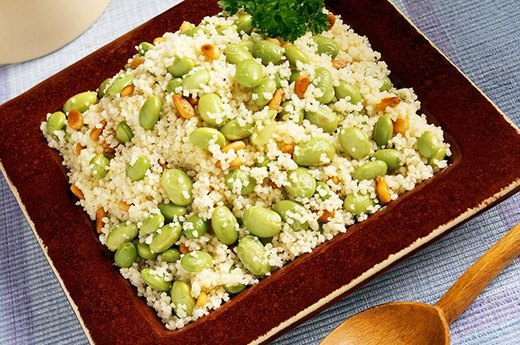 Edamame and Barley with a Splash of Olive Oil