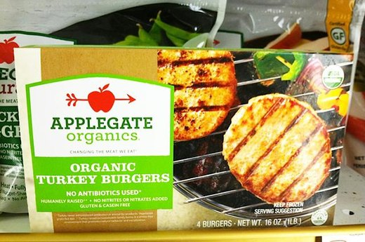 8. BETTER ALTERNATIVE: Applegate Organics Turkey Burgers