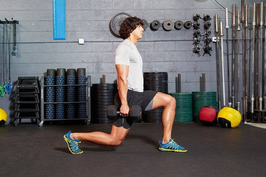 26. Single-Arm Dumbbell Lunge