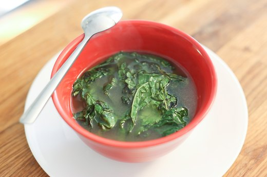 Sip Kale-Containing Soup