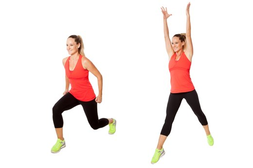 EXERCISE 5: Lunge Jumps - 2 Rounds, One per Side