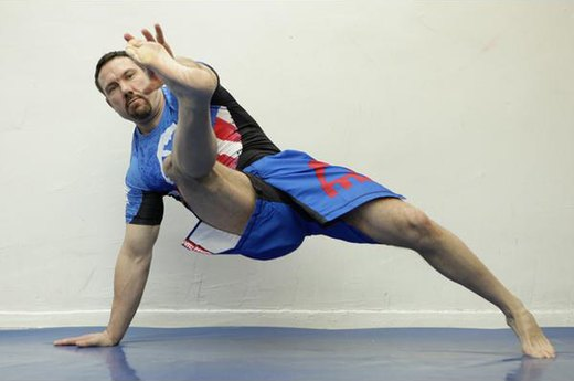 7. Inside Leg Kick Push-Up