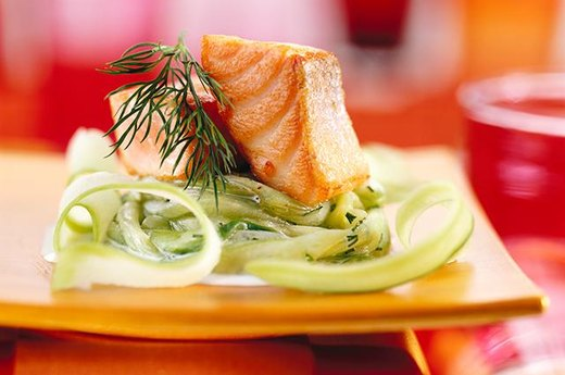 15. Salmon Salad with Cucumbers