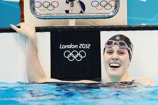 #16. A Happy Teenager Swims to Five Medals