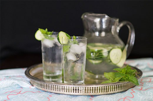 12. Cucumber-Mint Spa Water