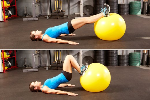 7. Stability Ball Hamstring Curl