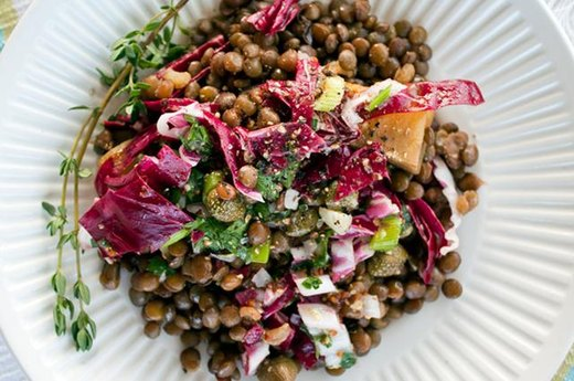 4. French Lentil and Golden Beet Salad