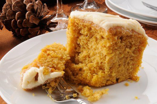 6. Frosted Pumpkin Cake