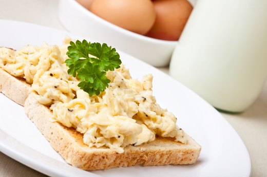 4. Egg Whites on Toast