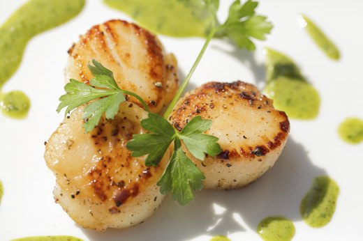 2. Pan-Seared Scallops