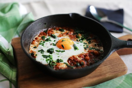 3. WARM & COZY: Poached Eggs Shakshouka
