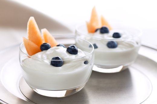 1. Non-Fat Greek Yogurt with Fresh Fruit