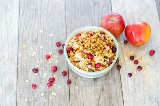 8. Cranberry Crumble Oatmeal