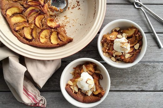 8. Peachy Almond Cobbler
