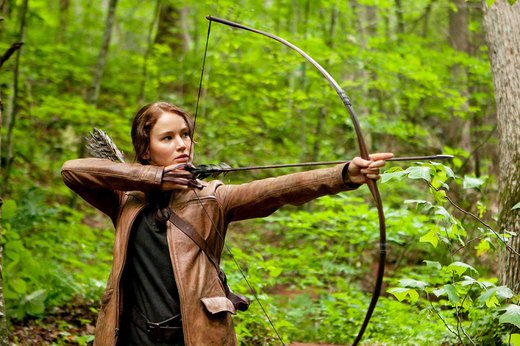 "31. Jennifer Lawrence in ""Hunger Games"""